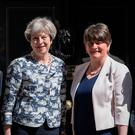 Border trouble: Arlene Foster and Theresa May