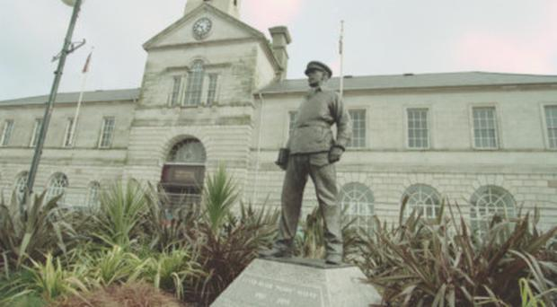 The good fight: A statue of 'Paddy' Blair Mayne in Newtownards