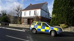 Shocking crime: police at the scene of the aggravated burglary in Aughnacloy