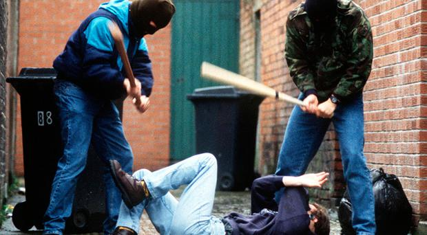 Rough justice: many young men have been beaten to a pulp in a back alley