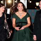 Green day: the Duchess of Cambridge didn't wear black at the Baftas