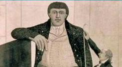 Tall tale: Charles Byrne made a living in London as the 'Irish Giant'