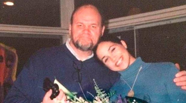 Daddy's princess: Thomas Markle with daughter Meghan