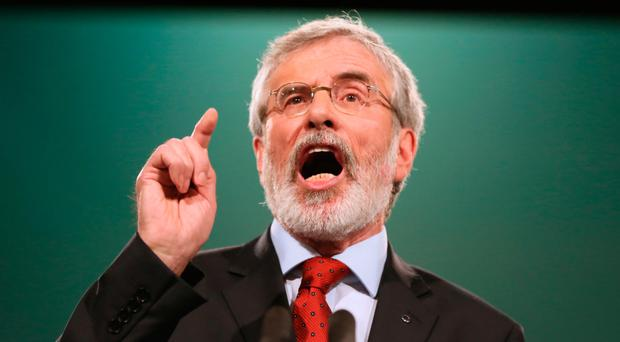 Sinn Fein president Gerry Adams, who is due to step down from the role next year