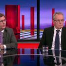 Jeffrey Donaldson and Gerry Kelly discussing the talks collapse on BBC NI's The View