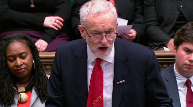 Labour leader Jeremy Corbyn in full flow in the House of Commons