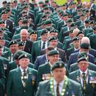 A parade is held as the Northern Ireland Veterans Association hosted an event in Lisburn at the weekend to mark the 50th anniversary of Operation Banner