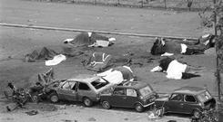 The aftermath of the IRA Hyde Park bombing