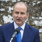 Fianna Fail's leader Micheal Martin is against a border poll