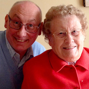 John Coulter with his mum Mrs Elizabeth Coulter