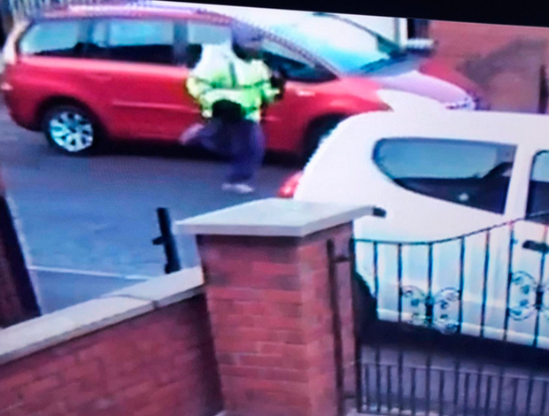 The CCTV image of the murder suspect