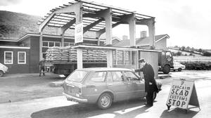 By 1921 the island was partitioned, leading to border checkpoints like this one between Newry and Dundalk in 1981