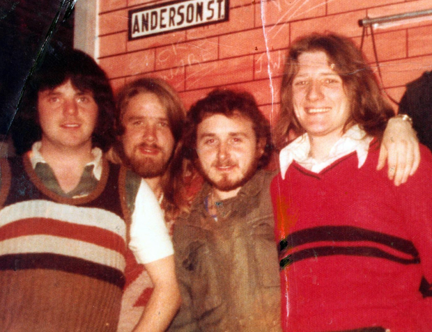 Tomboy Loudon, Gerard Rooney, Denis Donaldson and Bobby Sands in Long Kesh
