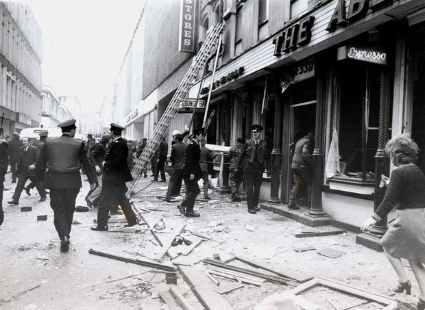 The scene after the Abercorn restaurant bombing in 1972