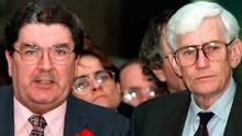 Former SDLP stalwarts John Hume with Seamus Mallon