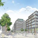 An artist's impression of the Tribeca Belfast proposal