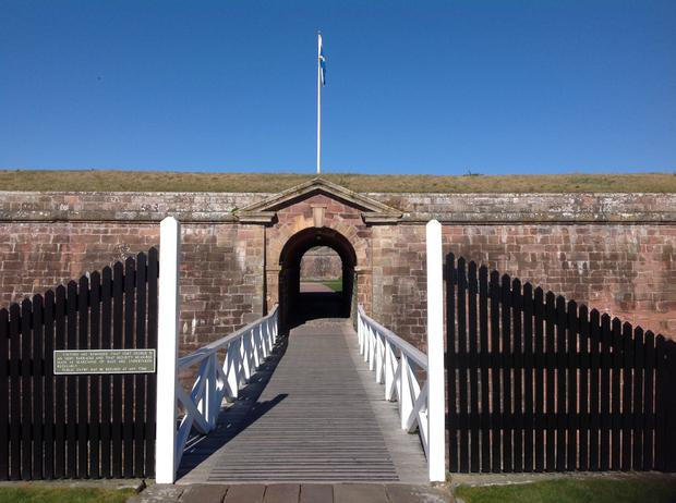 The entrance to Fort George