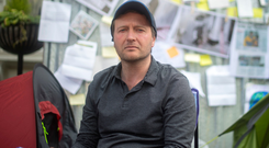 Richard Ratcliffe protests at Iranian Embassy. Today marks his 12th day on hunger strike