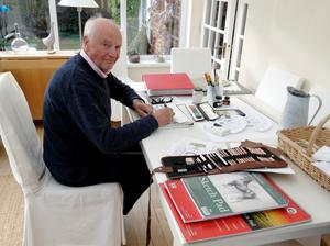 Don Anderson in his office at home