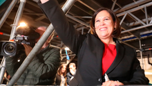 A triumphant Mary Lou McDonald during the election count