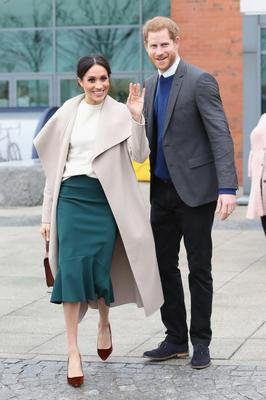 The Duke and Duchess of Sussex during a visit to Belfast in 2018