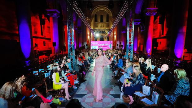 A fashion show at St Anne's in Belfast