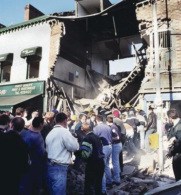 Harsh times: Americans should look at their own divisions before helping us with ours, which led to tragedies like the Shankill bomb