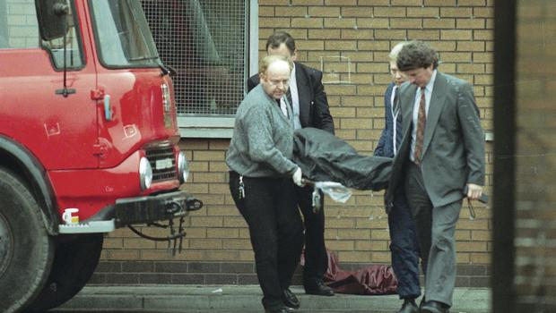 Barbaric: The scene at Kennedy Way where James Cameron and Mark Rodgers were murdered