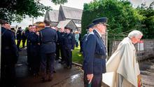 The funeral of Garda Colm Horkan at St James' Church in Charlestown, Co Mayo