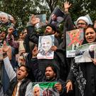 People protest against the US authorities over the killing of Iranian commander Qasem Soleimani