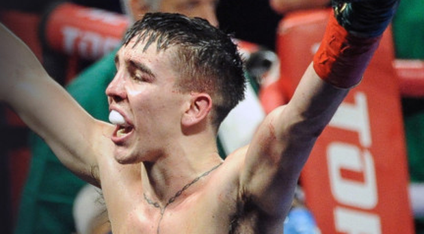 Michael Conlan in the ring at the weekend in New York