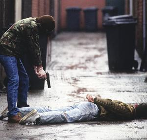 Gerry Adams told the sister of a man left to bleed to death after a so-called punishment shooting that the IRA men behind it would not be reported to the police, it has been claimed. Picture posed