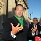Leo Varadkar of Fine Gael (pictured) and Micheal Martin of Fianna Fail are going to the polls