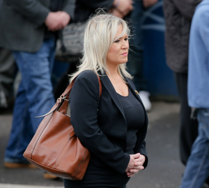 Row: Michelle O'Neill at the Storey funeral