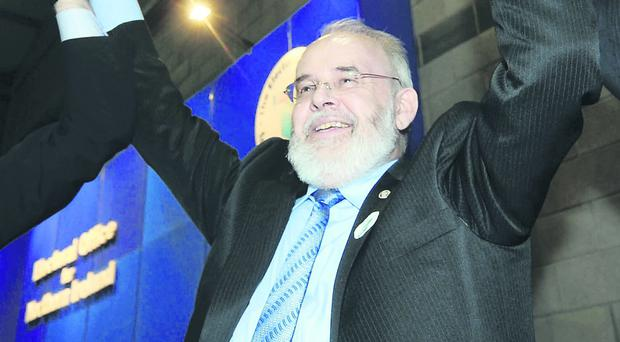 Privileged position: Francie Molloy, the newly elected MP for Mid Ulster