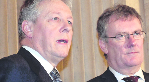 Mike Nesbitt with Peter Robinson