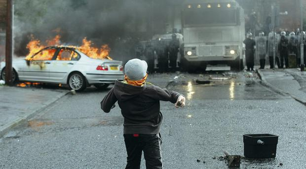 History of violence: Trouble at Ardoyne shops last year