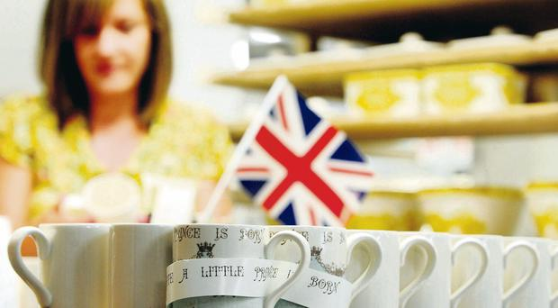 Cups of good cheer: a nation celebrates the birth of a baby boy to William and Kate