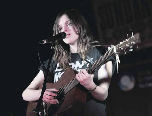 Out of tune: Gabrielle Aplin was one of a number of singers featured on the playlist David Cameron gave world leaders