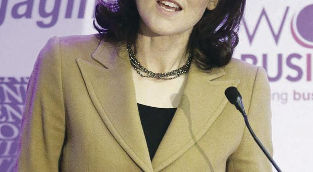 Testing tenure: Northern Ireland Secretary of State Theresa Villiers has grown in confidence