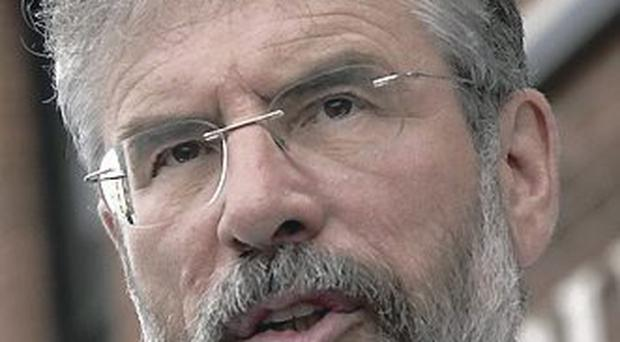 Out of touch: Gerry Adams
