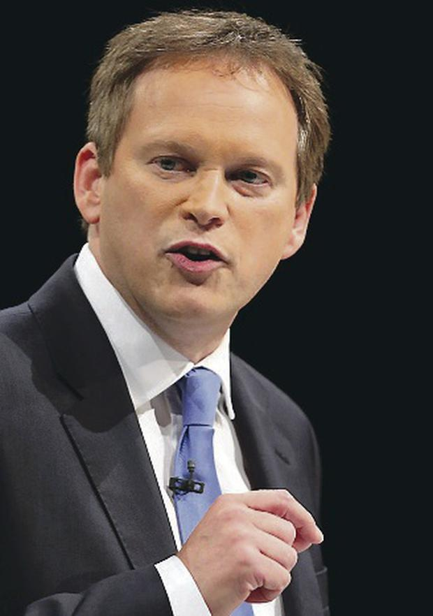 Crude threats: Grant Shapps