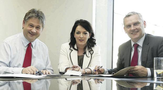 Hopeful: Basil McCrea, Tina McKenzie and John McCallister.