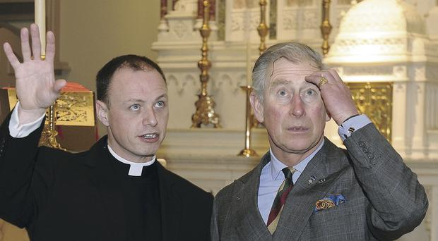 Charles with Father Martin Graham at St Malachy's Church