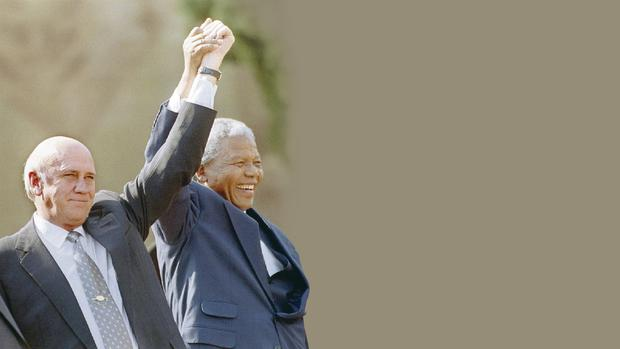 Peacemakers: Nelson Mandela and South Africa's then president FW de Klerk