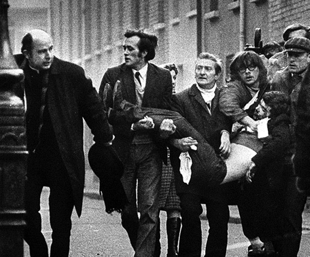 Bloody Sunday in Londonderry in 1972