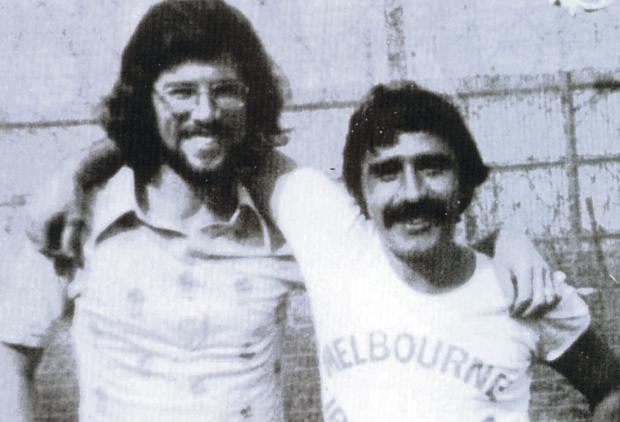 Comrades: Brendan Hughes with Gerry Adams in Long Kesh. Hughes revealed how Paddy Joe Crawford met his barbaric death