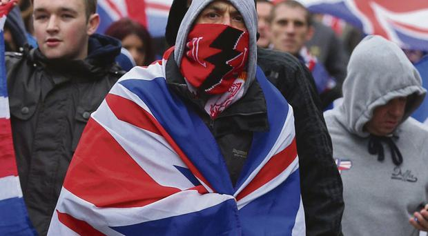 Flag protesters take to the streets of Belfast