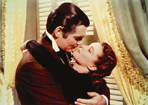 Hidden passion: Rhett and Scarlett from Gone with the Wind