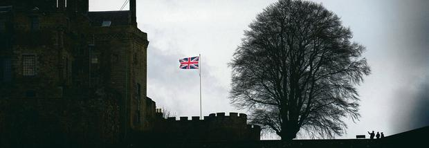 Winds of change: a Union Flag flies over Stirling Castle